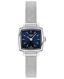 Tissot Women's Swiss T-Lady Lovely Stainless Steel Mesh Bracelet Watch 20mm