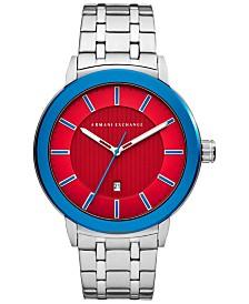 A X Armani Exchange Men's Maddox Stainless Steel Bracelet Watch 46mm