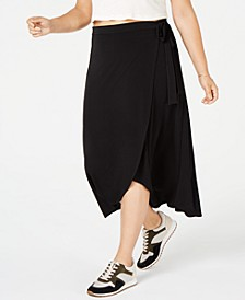 Trendy Plus Size High-Low Midi Skirt