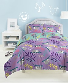 Dream Factory Slothing Around Twin Comforter Set