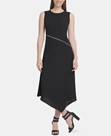 DKNY Asymmetrical-Hem Dress