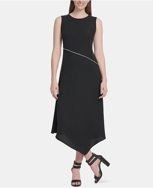 DKNY Asymmetrical-Hem Dress