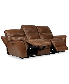 "Hadsden 90"" Leather Sofa Recliner"
