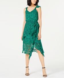 I.N.C. Animal-Print Ruffled Dress, Created for Macy's