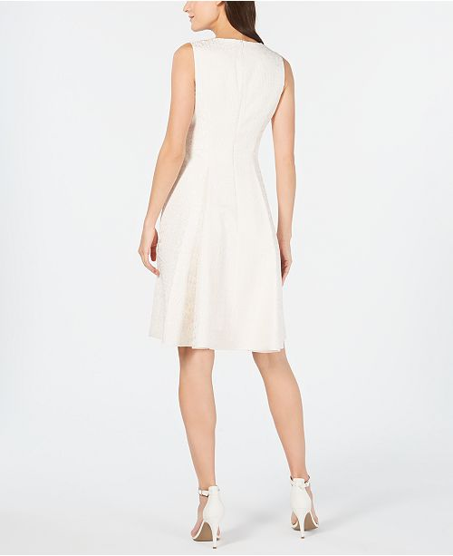Anne Klein Jacquard Fit Amp Flare Dress Amp Reviews Dresses