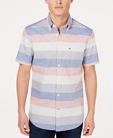 Tommy Hilfiger Men's Classic Fit Ryder Striped Shirt