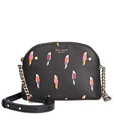 kate spade new york Sylvia Flock Party Small Dome Crossbody