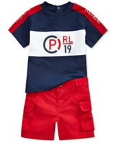 963179762 Polo Ralph Lauren Baby Boys Graphic T-Shirt & Cargo Shorts Set