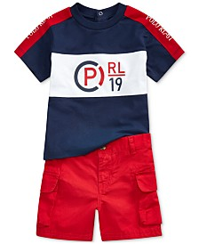 Polo Ralph Lauren Baby Boys Graphic T-Shirt & Cargo Shorts Set