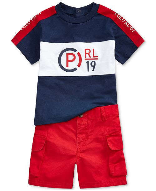Polo Ralph Lauren Baby Boys Graphic T-Shirt & Cargo Shorts Set