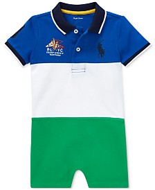 Polo Ralph Lauren Baby Boys Colorblocked Polo Cotton Shortall