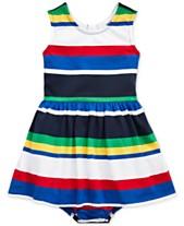 b53a3ad29fd2 Polo Ralph Lauren Baby Girls Striped Cotton Dress
