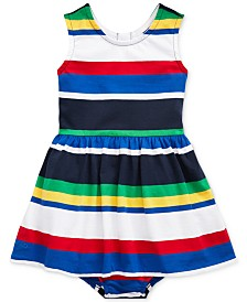 Polo Ralph Lauren Baby Girls Striped Cotton Dress