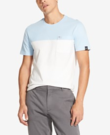 DKNY Men's Colorblocked Pocket T-Shirt