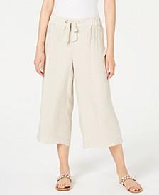 Gauze Pull-On Capri Pants, Created for Macy's