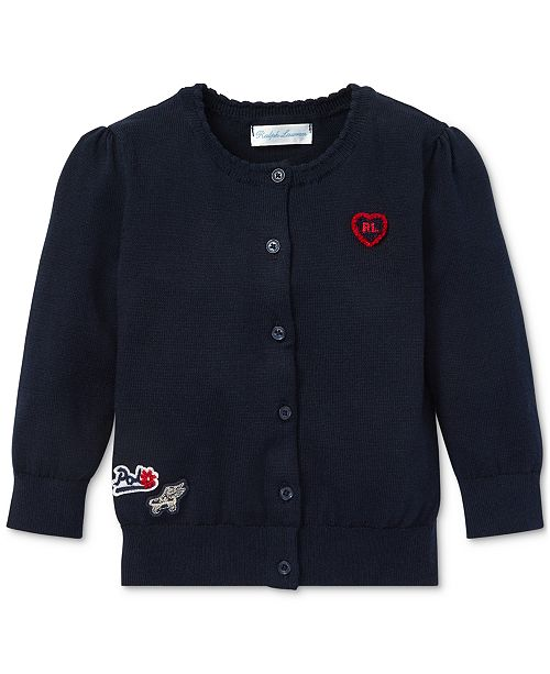 Polo Ralph Lauren Baby Girls Patch Cotton Cardigan
