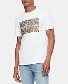 Calvin Klein Jeans Men's Floral Logo Graphic T-Shirt
