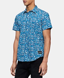 Calvin Klein Jeans Men's Floral Graphic Shirt