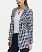 c6e49fc5900 Tommy Hilfiger Gingham-Print Open-Front Topper Jacket