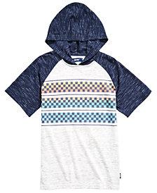 Univibe Big Boys Follow Colorblocked Checker-Stripe Hooded Raglan-Sleeve T-Shirt