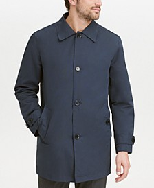Men's Button-Front Water Resistant Rain Coat