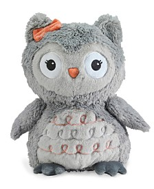 "Lambs & Ivy Family Tree Gray Plush Owl Stuffed Animal 10"" Izzy"