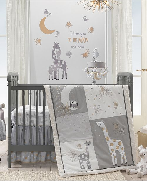 Signature Moonbeams I Love You To The Moon And Back Celestial Giraffe Nursery Wall Decals Liques