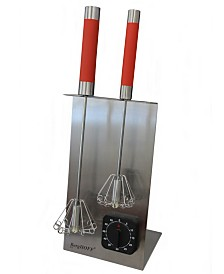 """BergHOFF 16.5"""" Stainless Steel Red Whisk And Timer Set"""