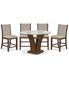 Zayden Dining Furniture, 5-Pc. Set (Table & 4 Counter Height Stools)