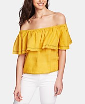 1c5091acc53 1.STATE Ruffled Off-The-Shoulder Linen Top
