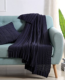 Dublin Cable Knit 50x70 Throw Blanket