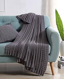 Dublin Cable Knit 50x70 Throw Blanket