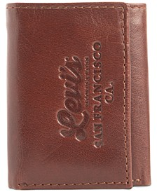 Men's Tri-Fold RFID Zip-Pocket Wallet
