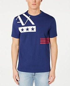 A|X Armani Exchange Men's Americana Logo T-Shirt Created For Macy's