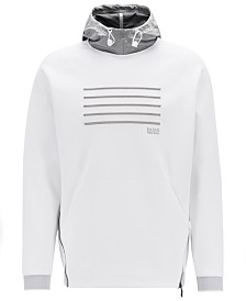 BOSS Men's Contrast-Hood Sweatshirt