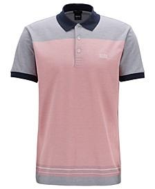 BOSS Men's Regular/Classic Fit Colorblocked Cotton Polo
