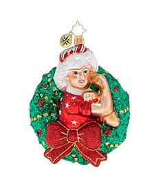 Women Power Mrs. Claus Wreath