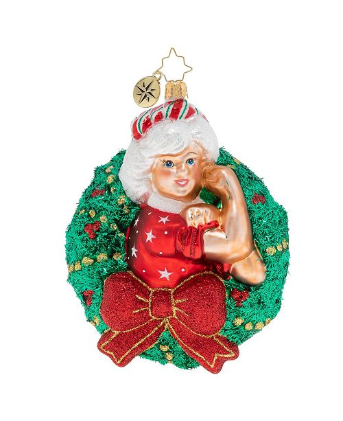 Christopher Radko Women Power Mrs. Claus Wreath