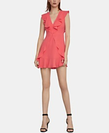 BCBGMAXAZRIA Eleeza Ruffled Fit & Flare Dress