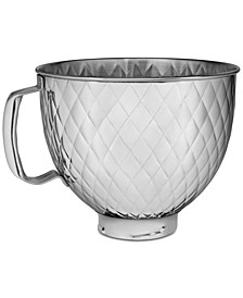 5-Qt. Tilt Head Quilted Stainless Steel Bowl