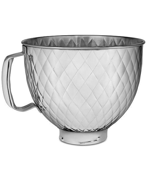 KitchenAid 5-Qt. Tilt Head Quilted Stainless Steel Bowl KSM5SSBQB