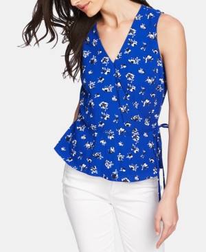 1.state Tops FLORAL-PRINT SIDE-TIE TOP