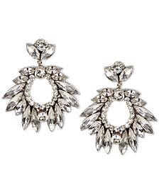 Crystal Cluster Circle Drop Earrings