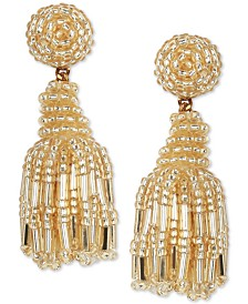 Deepa Beaded Fringe Drop Earrings