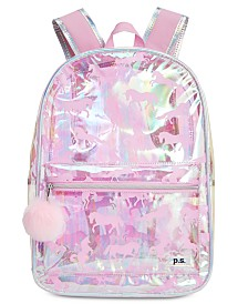 P.S. from Aéropostale Little & Big Girls Clear Unicorn-Print Backpack