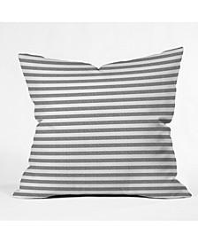 Little Arrow Design Co Stripes In Grey Throw Pillow