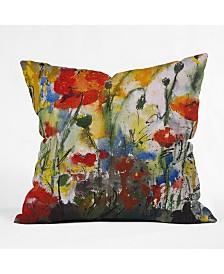 Ginette Fine Art Wildflowers Poppies 1 Throw Pillow
