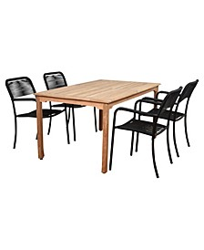 5 Piece Patio Dining Set Rectangular