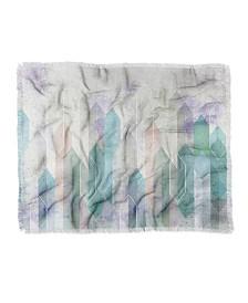 Emanuela Carratoni Raw Gems Woven Throw Blanket
