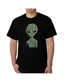 LA Pop Art Mens Word Art T-Shirt - Area 51